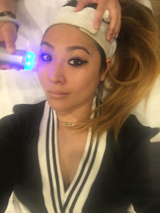 Oxygen power facial